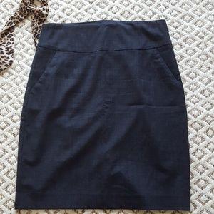 Banana Republic navy blue wool pencil skirt